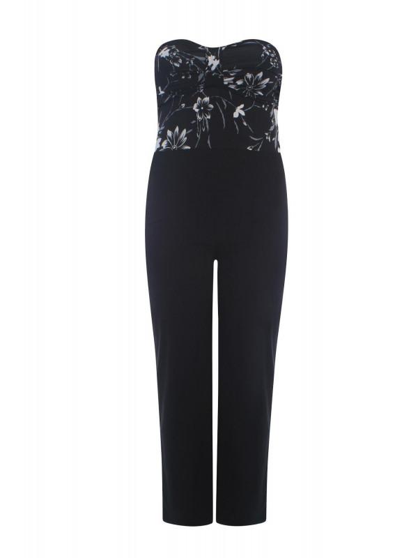 Zara Womens Boob Tube Knot Floral Jumpsuit Dress 12-14